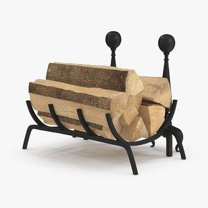 3d firewood storage rack 02