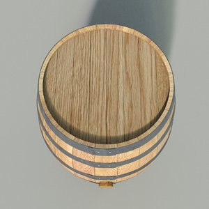 3d obj barrel wood bar