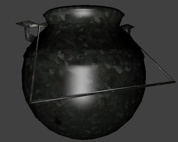 3d model of medieval kettle