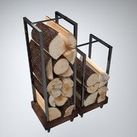 3d model firewood stand
