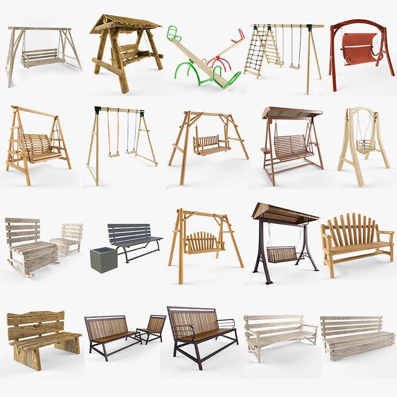 3ds swing bench