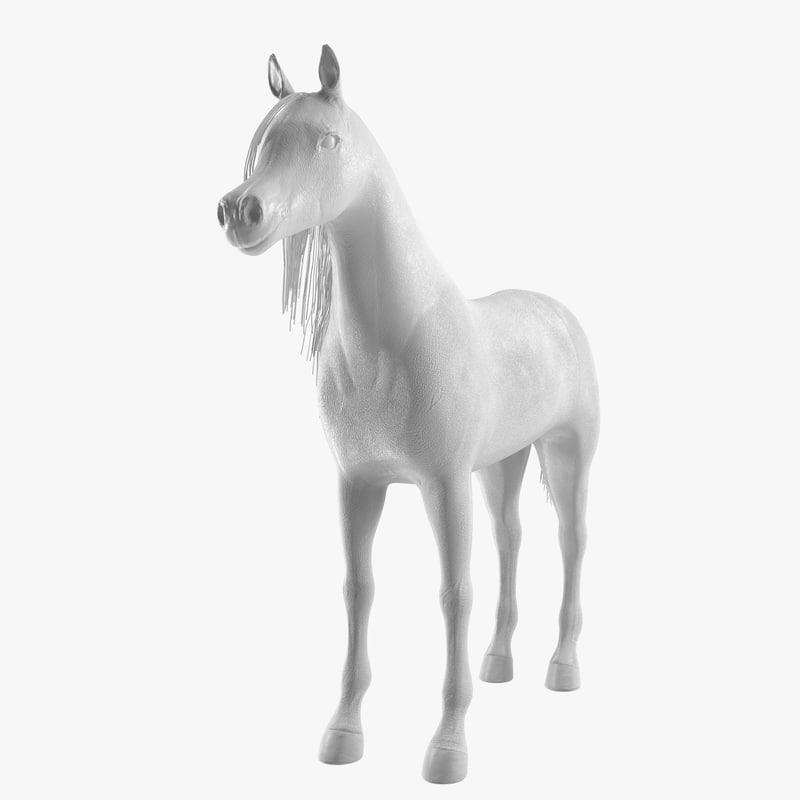 realistic horse 3d obj