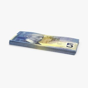 3d 5 canadian dollar note