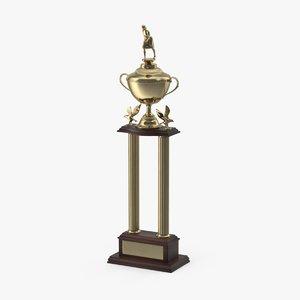 bowling trophy 3d model