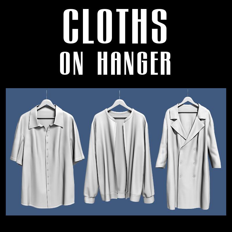 cloth hanger 3d model