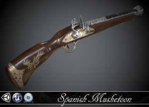 flintlock spanish 3d model