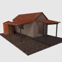 rusty old shack - 3d obj