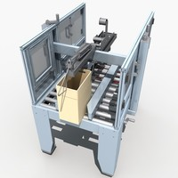 automatic sealing machine 3d model