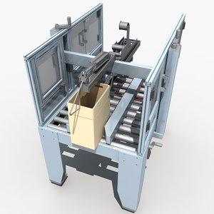 automatic sealing machine 3d model