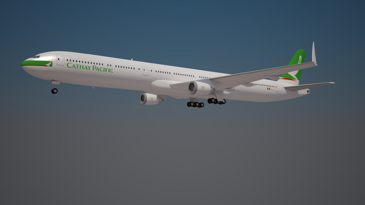 3d model cathay pacific 777 9x