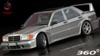 3d mercedes-benz 190e 1990 model