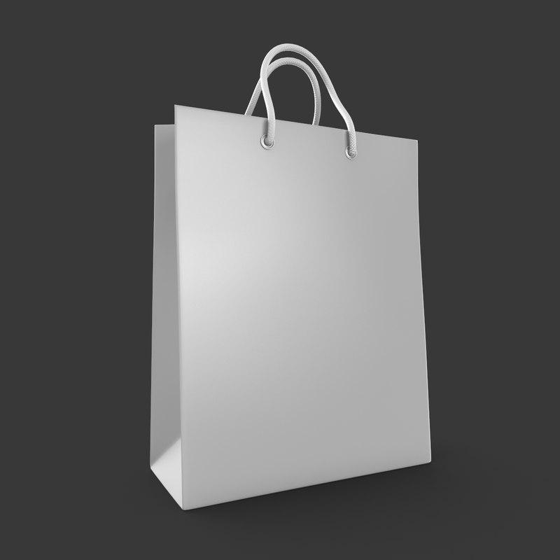 3d 3ds shopping bag