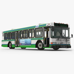 3d model gillig floor advantage bus