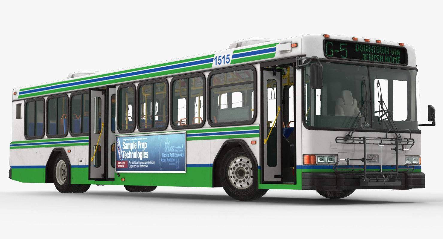 3d model gillig floor advantage bus