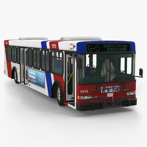 3d max gillig floor bus rigged