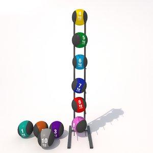 medicine balls 3d model