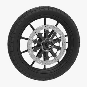 3d model motorcycle wheel 2