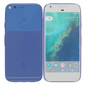3d model google pixel really blue