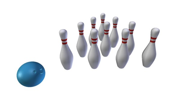 free obj mode bowling pins