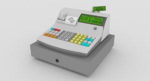 generic cash register 3d model