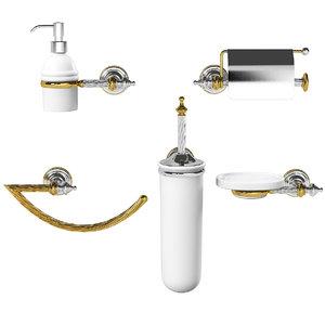 stilhaus giunone classical bathroom accessories 3d max