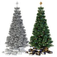 christmas tree gifts 3d model