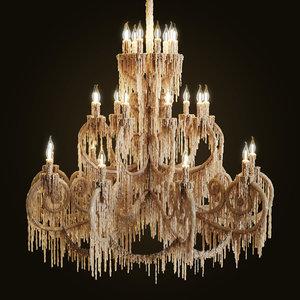 chandelier bathed wax max