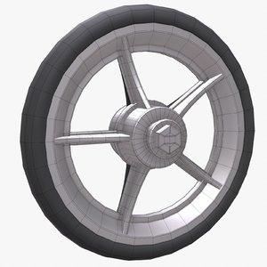 3d model chair small wheel