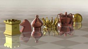 3D chess set symbols model