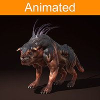 3d character creature ripper dog