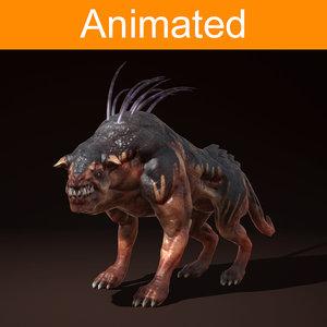 3d character creature ripper dog