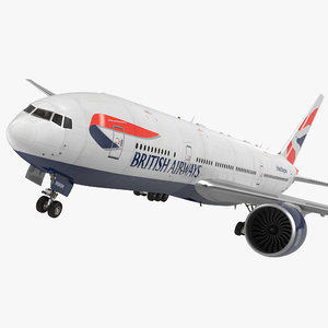 3d 3ds boeing 777 200lr british airways