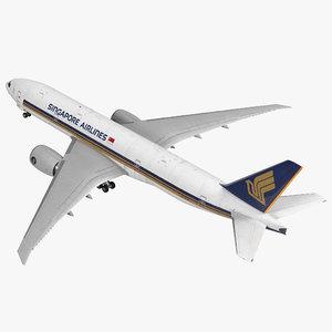 c4d boeing 777 200lr singapore