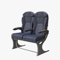 3d model business airplane seat