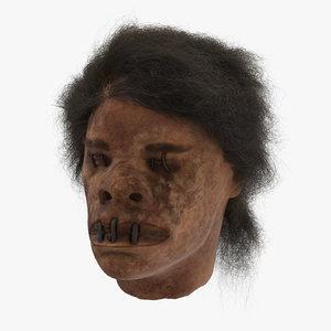 3d shrunken head 02