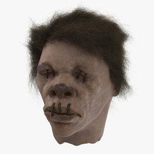 3d shrunken head 03