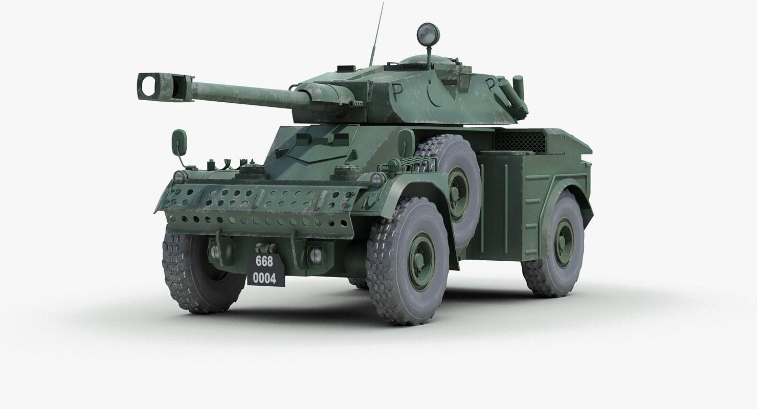 panhard aml 90 armoured car 3d model