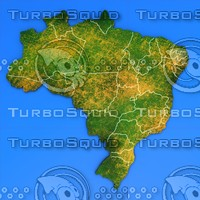 3d brazil country model