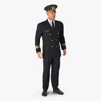 adult airline pilot 3d c4d