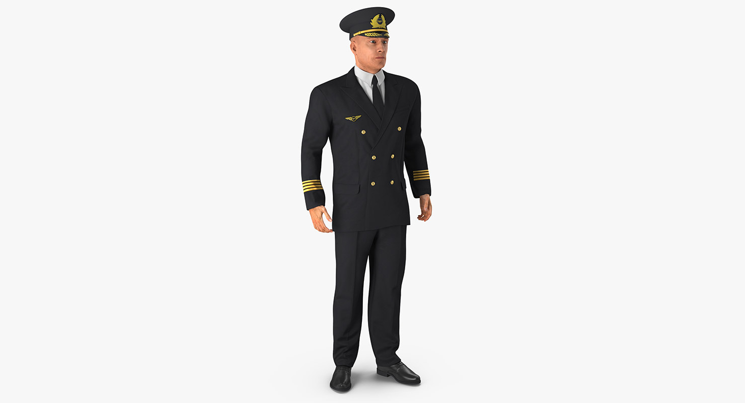 adult airline pilot 3d c4d