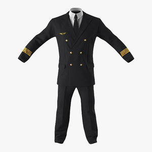 airline pilot suit 3d model