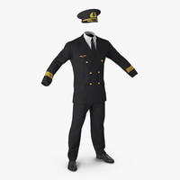 airline pilot uniform 3d c4d