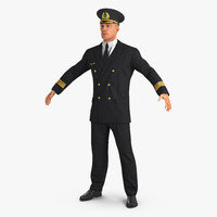 airline pilot 3d model