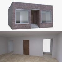 brick store interior 3d model
