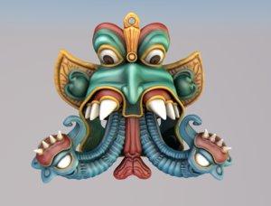 3d sculpture hindu god elephant