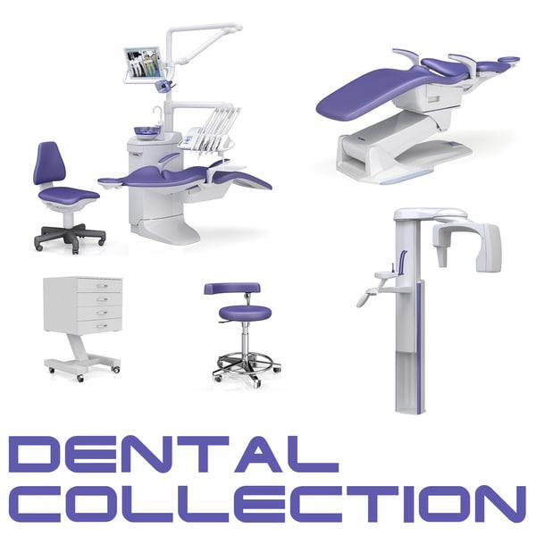3d dental stomatologic equipment apparatus model