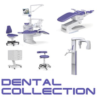 3d dental stomatologic equipment apparatus model
