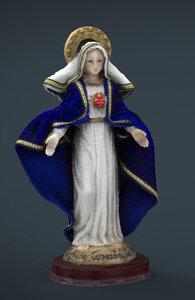 3d sacred heart maria