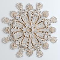 Rosette Carved