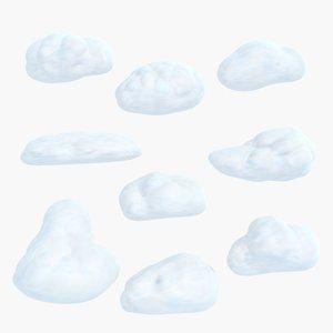 cartoon cloud 3d max